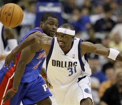 Pistons Mavericks Basketball