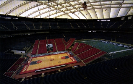 While the Lions were busy sucking in one part of the dome, the Pistons anxiously awaited to play in the gigantic stadium not intended for basketball.