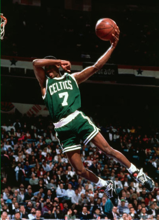 A delightful Dee Brown no-look dunk that decidedly determined the winner of the 1991 NBA All-Star Game