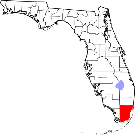 Miami-Wade County (highlighted)